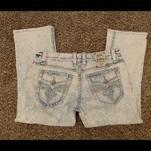 Rock Revival straight leg jeans pants 36